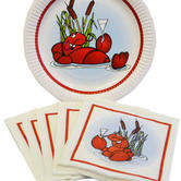 Crayfish party - Paper plates, white