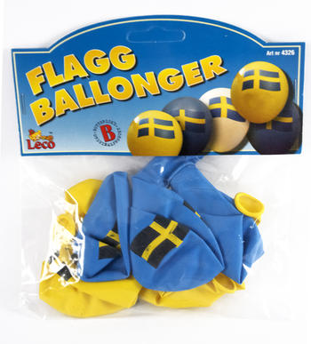 Ballonger med svenska flaggan
