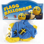 Balloons with Swedish flag